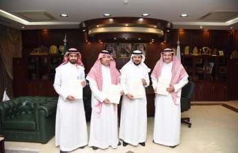 Rector Receives Dean of the College of Applied Medical Sciences and his Delegation on Obtaining the Academic Accreditation from The German Commission for Accreditation