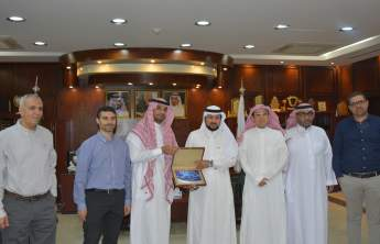 Rector Receives the Annual Report of the Computer and Engineering College 1439/1440 H