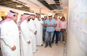 Rector visits the University's projects in Wadi Al-Dawasar and Al-Slayel