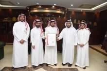 Rector receives a copy of the ISO certificate for business continuity 22301