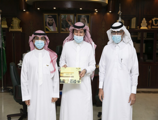 Rector Receives the Annual Report of Engineering College at Wadi Addawasir